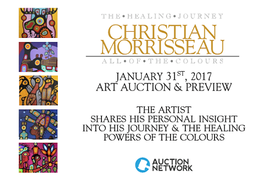 MORRISSEAU ORIGINAL ART AUCTION - THE HEALING JOURNEY - JAN 31st 2017