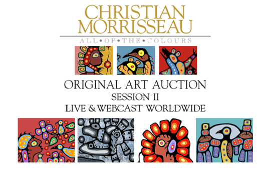 Christian Morrisseau Original Art Auction Session II Live & Webcaset Worldwide